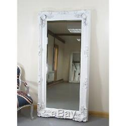 Louis X Large Cadrage Mur Miroir Plus Maigre Blanc- 2'11 X 5'9 (35x 69)
