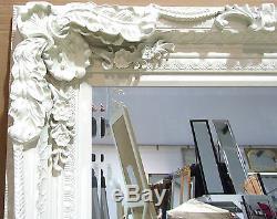 Louis X Large Longueur Pleine Mur Miroir Plus Maigre 2'11 X 5'9 Crème (35x 69)