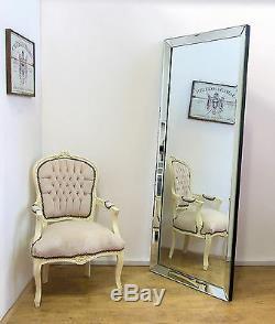 Luna X Large Moderne Mur Sans Cadre Leaner Cadrage Étage Miroir 70 X 30