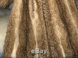 Manteau Canadien Coyote Fourrure Longueur Pleine Grande Taille Condition Grand