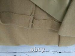 Manteau De Laine Fleurette Pleine Longueur Taille Double Poitrine Moyenne/grande