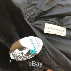 Manteau En Fourrure De Vison Designer Guy Laroche Paris Cadrage En Pied 49 Blackglama Environ. Sz L
