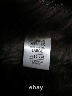 Marks And Spencer Full Length Sheepskin Coat Taille L 12 14