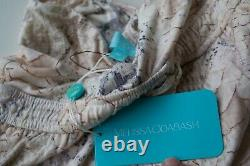 Melissa Odabash Animal Print Bandeau Maxi Robe De Soirée Nouveau Authentique Grand