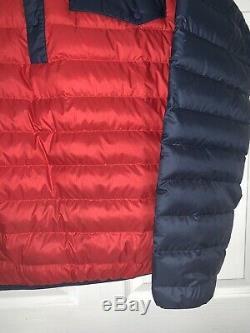 Mens Grand Patagonia Snap-t Vers Le Bas Classique Rouge / Marine Pull Veste 27246 Mint