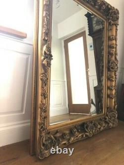 Miroir De Plancher En Or Antique Extra Large Pleine Longueur