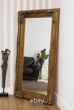 Miroir Mural D'or De Grande Longueur D'or De Gros Loyers 6ft X 3ft 175cm X 89cm