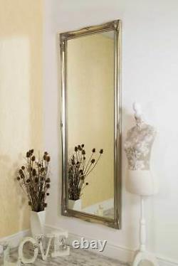 Miroir Mural En Argent Extra Grande Longueur Antique 6ft6 X 2ft6 198cm X 75cm