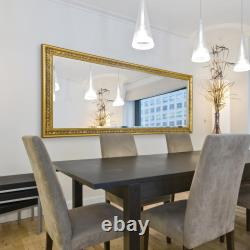 Miroir Mural Extra Grand Or Vintage Pleine Longueur Encadré 5ft3x2ft5 160cm X 73cm