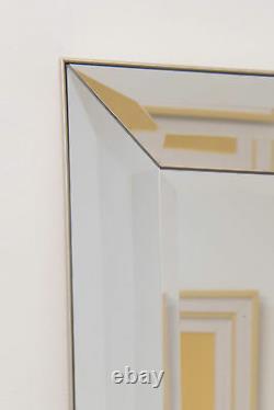Miroir Mural Extra Large Pleine Longueur Argent Long 5ft5 X 2ft7 165cm X 78cm