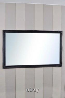 Miroir Mural Noir Très Long Longueur Antique 5ft6 X 3ft6 167cm X 106cm