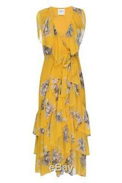 Misa Ilune Imprimé Floral Wrap Maxi Robe Grande