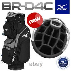 Mizuno Br-d4c Golf Cart/trolley Bag Full 14-way Diviseurs Noir Nouveau! 2021