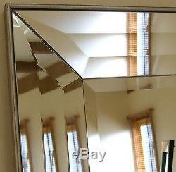 Modena-g Extra Large Placage Bord Vénitien Longueur Plein Sol Miroir Mural 165x78cm