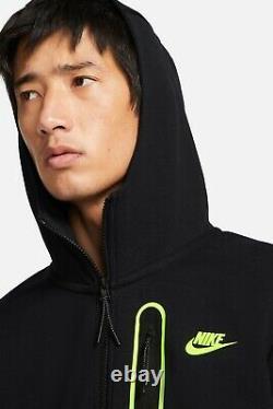 New Hommes Nike Tech Volt Sherpa Fleece Tracksuit Set Hoodie & Joggers Large Ltded