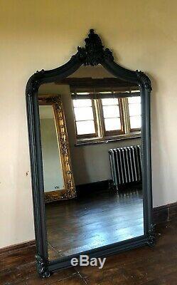 Noir Grand Longueur Pleine Ornement Français Leaner Robe Dressing Miroir Mural