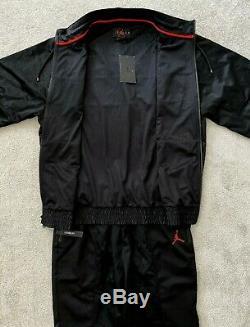 Nouveau Hommes Nike Wings Air Jordan Survêtement Set Mj 23 Veste Et Bas Triple Black
