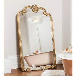 Palazzo X Large Longueur Ornement Or Plein Mur Leaner Plancher Miroir 73 X 41
