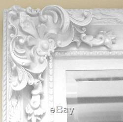 Paris Blanc Shabby Chic Antique Longueur Pleine Leaner Étage Miroir 69x33 X Large