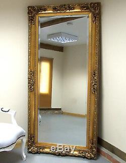 Paris Cadrage En Pied Grand Ornement Sol Mur Accroché Miroir D'or 69x33 (175x84cm)