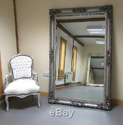 Paris Ornement Extra-large Française Cadrage Mur Miroir Plus Maigre Argent 45' X 69'
