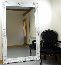 Paris Ornement Français Extra-large Cadrage Mur Miroir Plus Maigre Blanc 45 ' ' X 69'