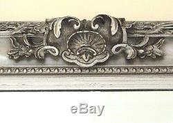 Paris Vintage Extra Large Longueur Plein Mur Miroir Argent 3'9 X 5'9 (45x69)