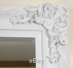 Paris Vintage Extra Large Longueur Plein Mur Miroir Blanc 3'9 X 5'9 (45x69)