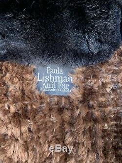 Paula Lishman Holzman Fourrures Cadrage En Pied Manteau En Tricot Beaver Et Fourrure De Renard Grand 10 12