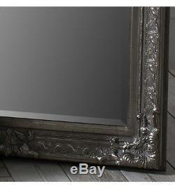 Pembridge Grand Cadrage Antique Silver Leaner Mur Sol Miroir 75 X 32
