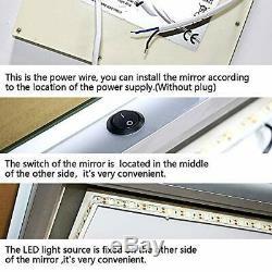 Philwin 55cmx120cm Grand Led Longueur Pleine Backlit Miroir- Surdimensionné
