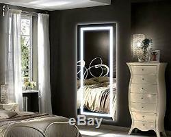Philwin 55cmx120cm Grand Led Pleine Longueur Rétro-éclairé Miroir- Surdimensionné Dressing