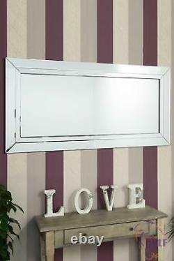 Pleine Longueur All Mirror Glass Leaner Modern Wall Mirror 5ft9 X 2ft9 174cm X 85cm