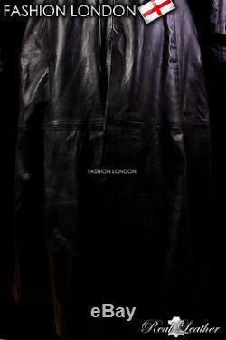 Pleine Longueur Manteau De Cuir Noir Long Cuir Duster Manteau Veste Van Helsing Hommes