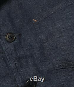Polo Ralph Lauren Rrl Japonais Coton Lin Sportcoat Jacket Made In USA 790 $ +