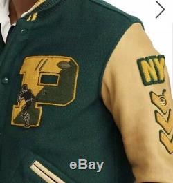 Polo Ralph Lauren Stade P-wing Varsity Bombardier Rrl Ny Tigers Letterman Jacket L