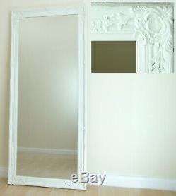 Portland Cadrage En Pied Ornement Grand Mur Vintage Miroir Blanc 160x72cm Leaner