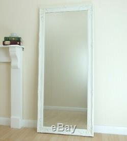 Portland Cadrage En Pied Ornement Grand Mur Vintage Miroir Blanc 72cm Leaner X 160 CM