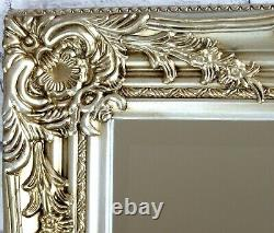 Portland Full Length Ornate Large Vintage Wall Leaner Champagne Mirror 72x160cm