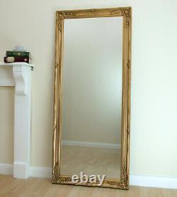 Portland Full Length Ornate Large Vintage Wall Leaner Gold Mirror 160cm X 72cm