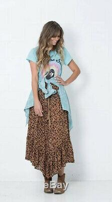 Rare Magie & The Gypsy Saphari Mouchoir Maxi Jupe Vintage 2013 Sz L Largeveuc