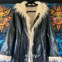 Rare Miss Sixty Vintage Full Length Afghan Coat Jacket 90s Y2k L