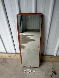 Rétro Danois Teck Style En Bois Massif Rare Grand Miroir Cadrage Mur