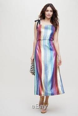 Rixo London Tessa Robe À Sequins Taille L. Nouveau
