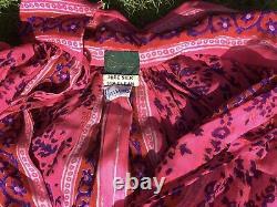 Robe Vintage En Soie Rose Caftan Maxi, De Harrods