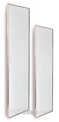 Rose Or Grand Ossature Métallique Cadrage En Pied Miroir Mural 40x120cm 50x150cm