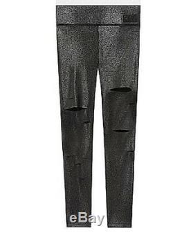 Rose Secret Ultime Fleuret Victoria Slashed Legging Taille Haute Grand New Sp129