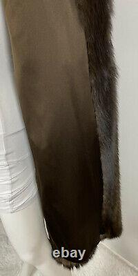 Russian Sable Real Fur Full Length Coat Jacket Taille M-l 6-10