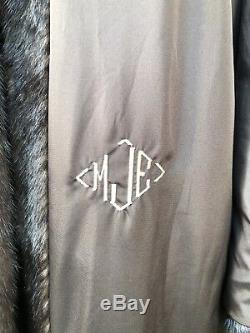 Saga Furs Superior Cadrage Brown Ranch Mink Coat Fur Grand 10 12