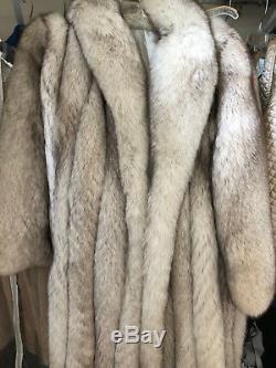 Silver Fox Manteau De Fourrure Longueur Pleine Medium / Large